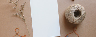 Blank greeting card craft