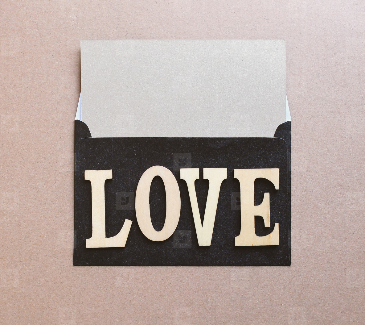 love word on letter