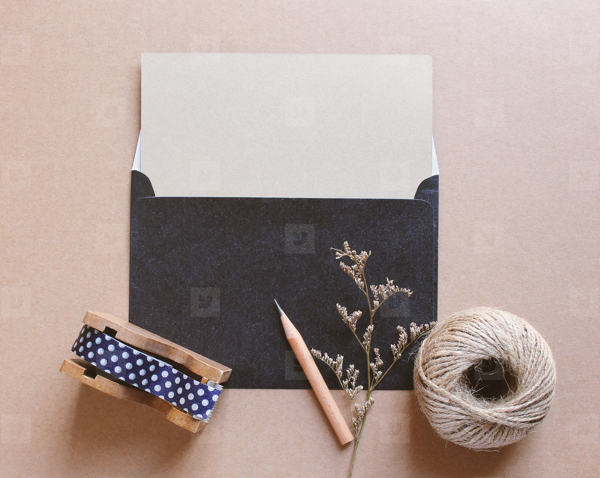 Blank letter mockup and craft