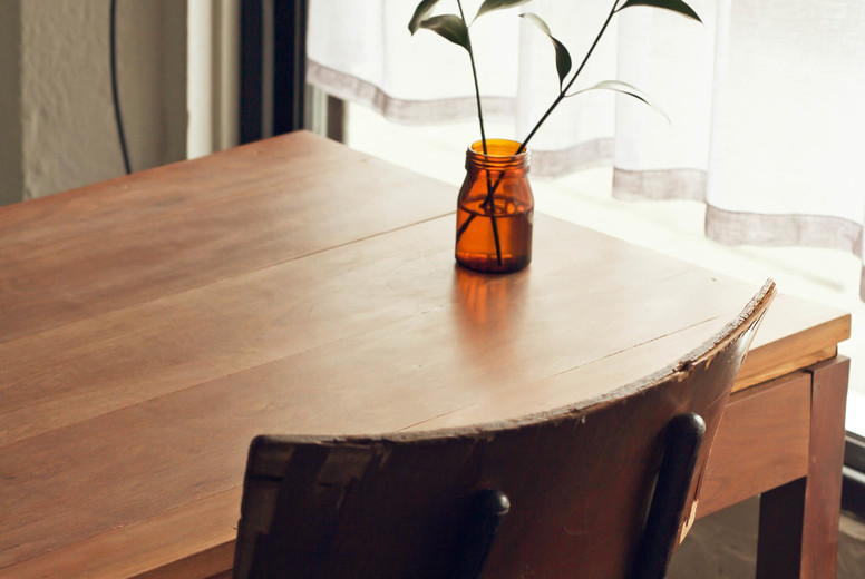 Interior of minimal style cafe