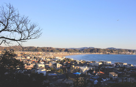 Kamakura town from top view