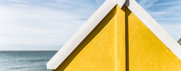 Yellow Summer Beach Hut