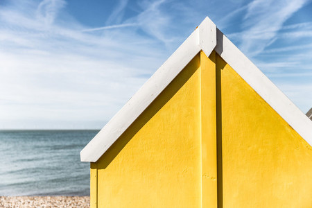 Yellow Summer Beach Hut
