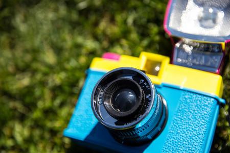 Retro camera and flash