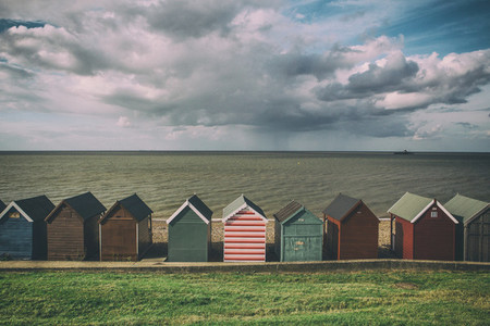 Beach Huts On Coast