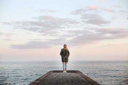 Girl by the beach