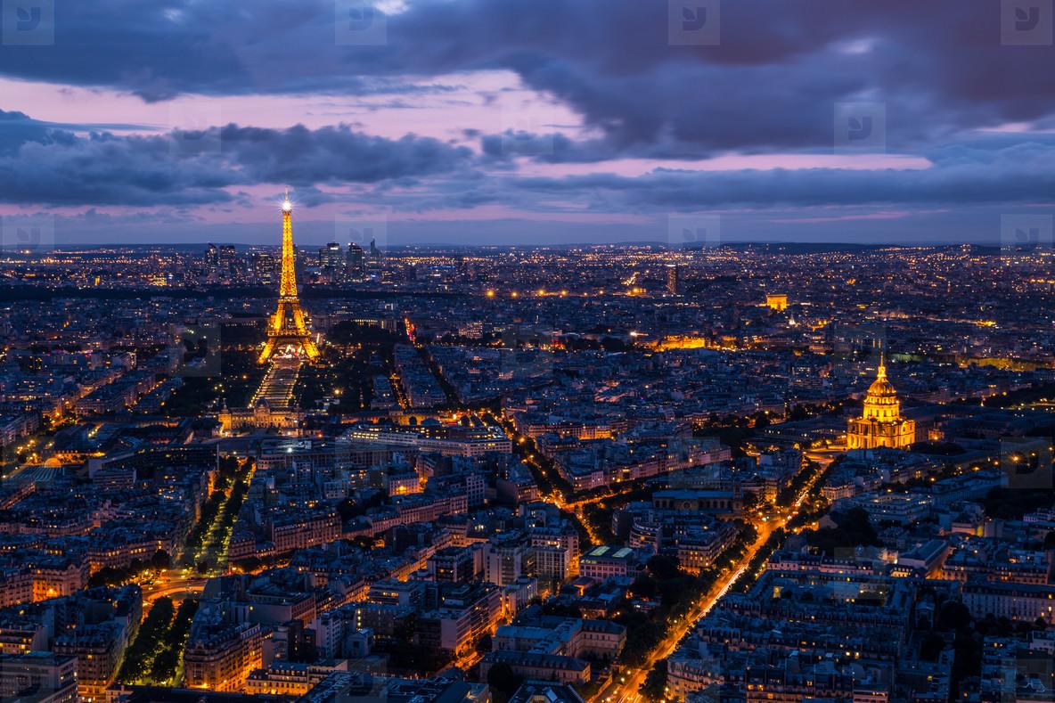 Paris Cityscape Sunset