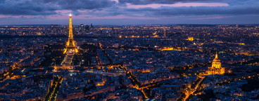 Paris Cityscape Sunset
