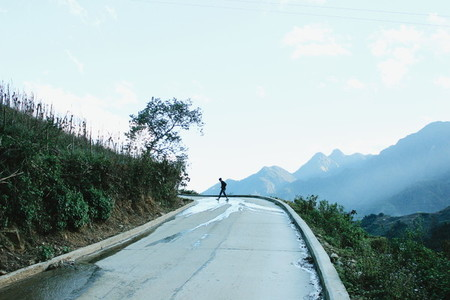 Road of mountain  Vietnam