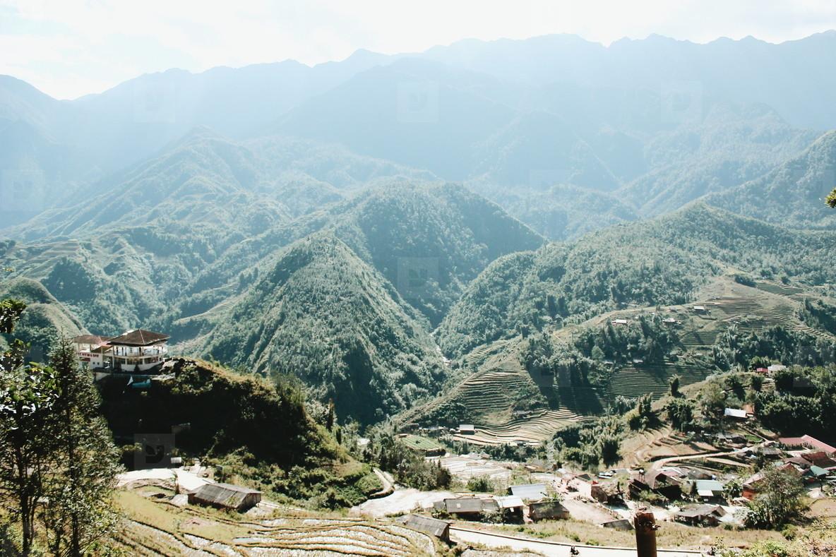 Top view of village  Vietnam  02