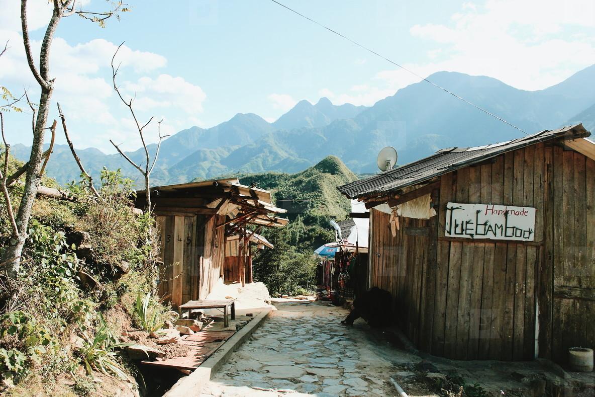 Tribal mountain village  01