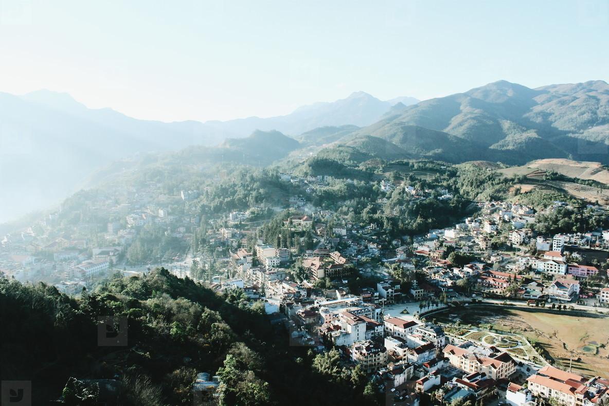 View of Sapa City  Vietnam