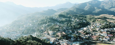 View of Sapa City  Vietnam