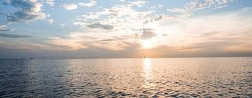 Sunset under water