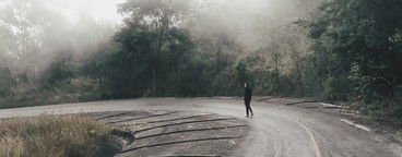 Country road with mist  02