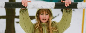 girl enjoyed winter