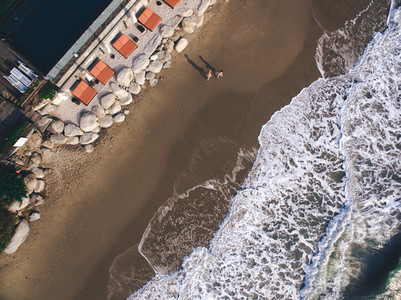 Beach Couple   A Drone039s View 1