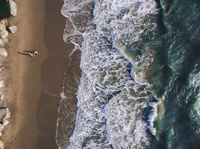 Beach Couple   A Drone s View 2