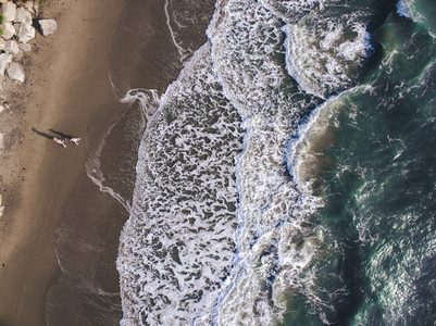 Beach Couple   A Drone039 s View 3