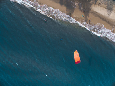 Kite Surfing Aerial Image 03