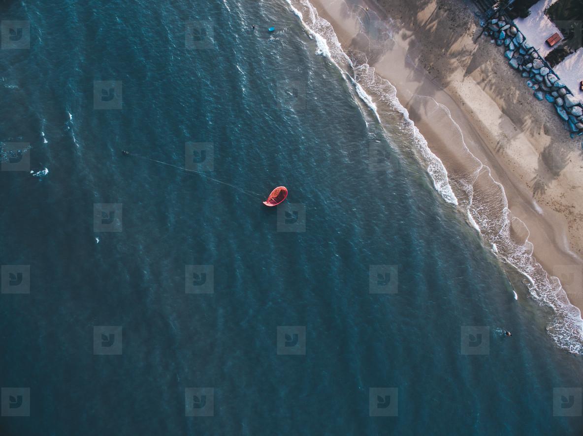 Kite Surfing Aerial Image 05