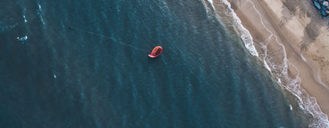 Kite Surfing Aerial Image 05