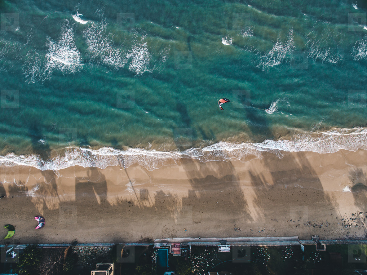 Kite Surfing Aerial Image 01