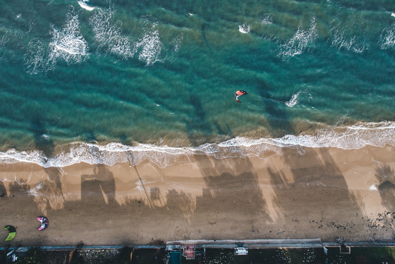 Kite Surfing Aerial Image 01
