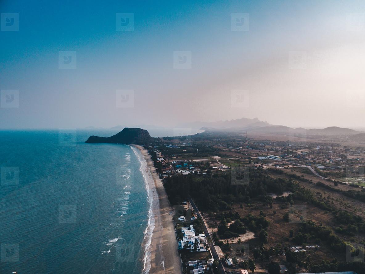 Beach Aerial View Hua Hin