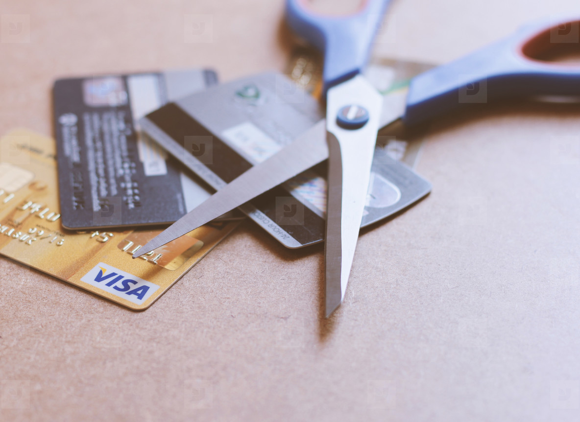 Scissors on credit card