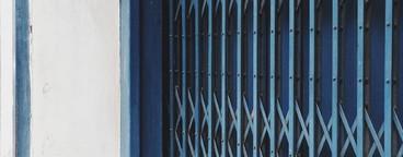 Blue steel door