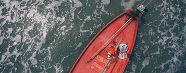 Fishing Boat from Above