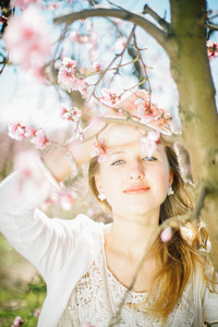 tender pure spring portrait