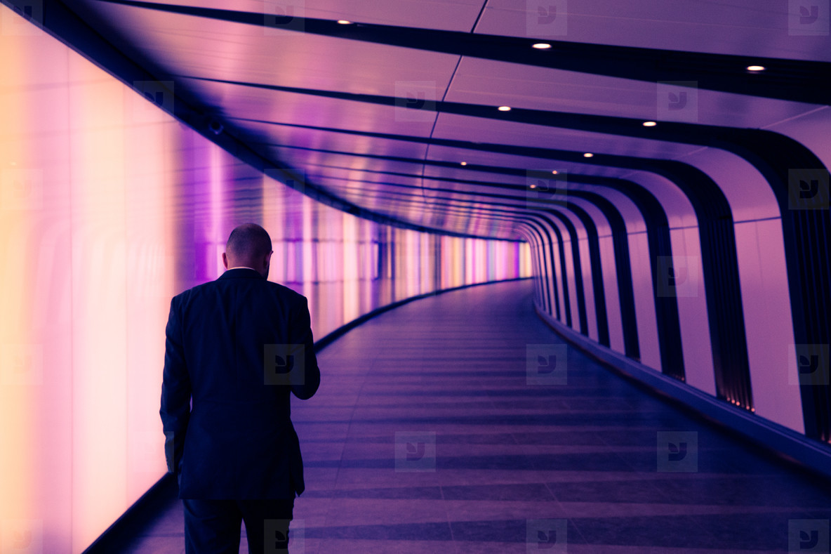 Business Man In Tunnel