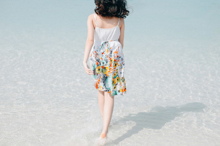 Young woman on beach 01