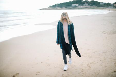 walking near the sea