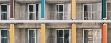 Colorful pillars
