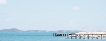 Nice view of bridge and blue sea