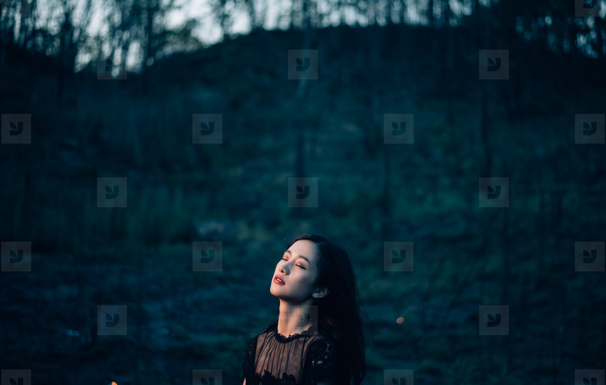 Dramatic portrait of a girl  02