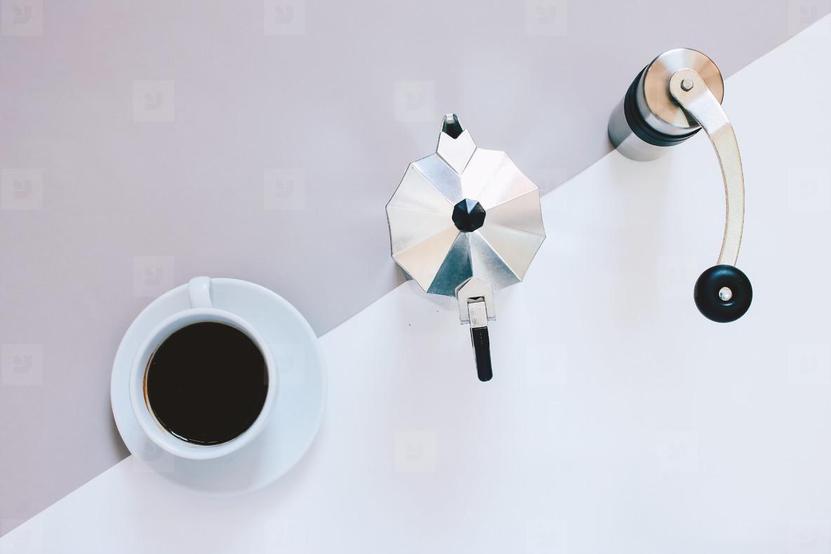 Creative flat lay of coffee