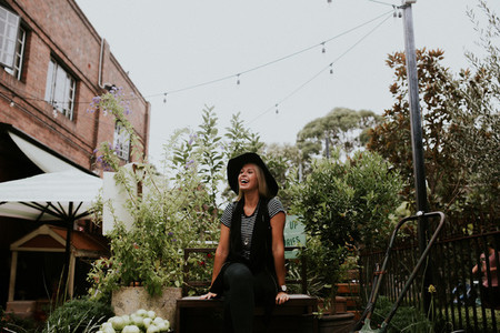 Hipster in a Garden V1