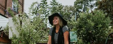 Hipster in a Garden V2