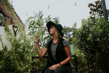 Hipster in a Garden V3