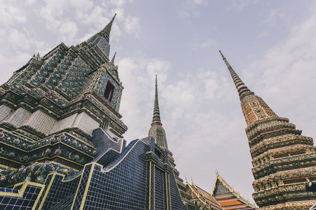 A part of temple roof  Wat Pho