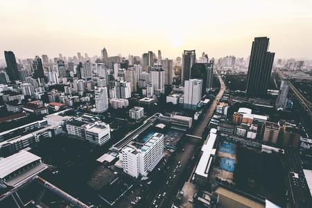 Bangkok skyline  02