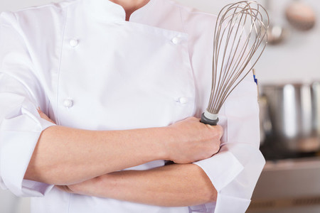 Chef with a whisk