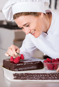 Pastry chef in the kitchen