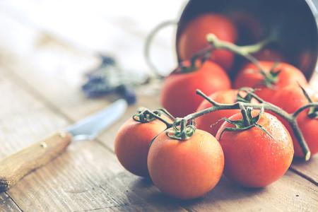 Ripe tomatoes spread