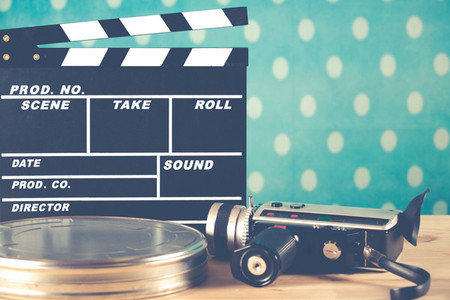 Clapperboard with your camera