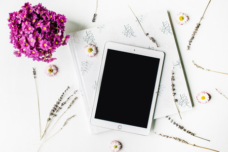 Tablet and wedding album